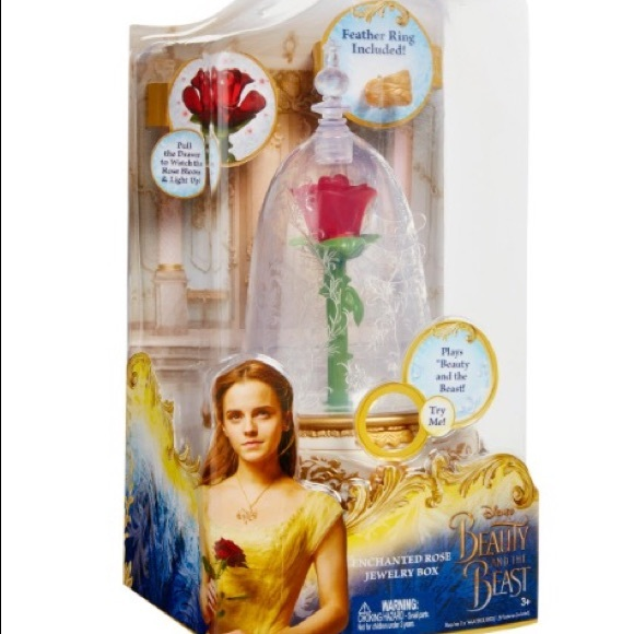 Beauty and the Beast Enchanted Rose Jewelry box.